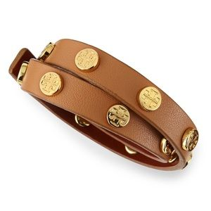 NWT Tory Burch leather wraps bracelet in brown